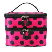 Start Portable Double Layer Zipper Toiletry Handbag Makeup Cosmetic Bag Travel Holder Box