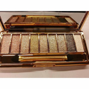 Eshion 9 colours Waterproof Makeup Glitter Eyeshadow Palette with Brush