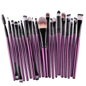 Toraway Pro 20 pcs/set Makeup Brush Kit Make-up Toiletry Kit Wool Cosmetic Brush Tools Set