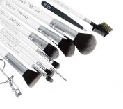 9 Personalised Makeup Brushes + Bonus Eyelash Curler + Bonus Tweezer