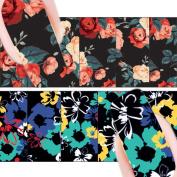 Born Pretty Flower Painting Nail Art Water Decals Transfer Sticker 2 Patterns/Sheet ¡