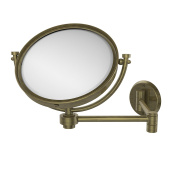 Allied Brass WM-6/2X-ABR 20cm Wall Mirror with 2x Magnification Extends 36cm , Antique Brass