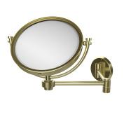 Allied Brass WM-6/2X-SBR 20cm Wall Mirror with 2x Magnification Extends 36cm , Satin Brass