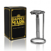 Dapper Mark Butterfly Open Double Edge Safety Razor and Stand