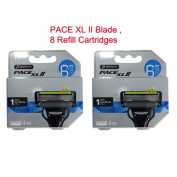 Dorco PACE XL II Blade , 6 Blade Razor Shaver System, 8 Refill Cartridges