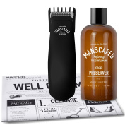 Mens Grooming Kit, includes - Uniquely Small/Powerful Manscaping Trimmer and Ball Deodorant + FREE Disposable shaving mats