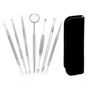 Brendacosmetic Pack of 7 Pcs Multifunctional Blackhead Remover Kit Blackhead Pimple Extractor Acne Comedone Removal Tool,Best Acne Removal Kit Blackhead Remover Tool for Face Nose Skin Beauty