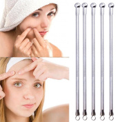 TONSEE 5 Pcs Blackhead Comedone Acne Pimple Blemish Extractor Remover Stainless Needles