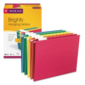 Smead 64159 - Hanging File Folders, 1/5 Tab, 11 Point Stock, Legal, Assorted Colours, 25/Box