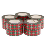 10pcs DIY Washi Paper Decorative Sticky Paper Masking Tape Self Gift Wrapping Red plaid