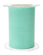 May Arts 471-5-94 Robins Egg Blue 13cm Tulle Ribbon,Robins Egg Blue,50 yd