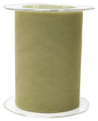 May Arts 471-5-16 Olive 13cm Tulle Ribbon,Olive,50 yd