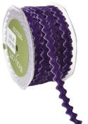 May Arts A480-38-47 Violet 1cm Adhesive Velvet Ric Rac,Violet,20 yd
