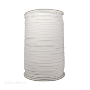Trimming Shop 7Mm Wide, 1 Metre Long - White Elastic Ribbon For Sewing And Crafts - Spool Of Elastic Flat Band For Clothing - Stretchy Cord For Skirts And Trousers Waistbands