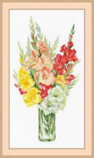 Riolis 1446 Bouquet Of Gladioli Counted Cross Stitch Kit