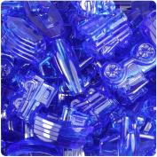 BEADTIN Dark Blue Sapphire Transparent Transportation Shaped Pony Beads