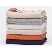Coyuchi Organic Cotton Honeycomb Baby Blanket - Mandarin