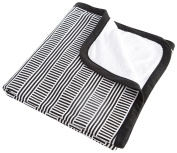 Oilo Stroller Blanket, Black/White