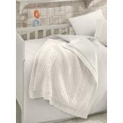 Naturel Merino Wool Blended 100cm L x 90cm W Blanket
