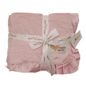 Applesauce Satin Trimmed Baby Blanket, Pink