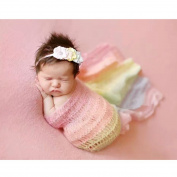 Newborn Baby Photography Photo Prop Stretch Wrap Tassel Blanket