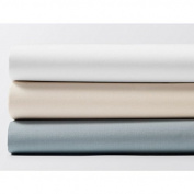 Coyuchi Organic Crib Sheets - 220 Percale - Pale Sky