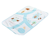 Urine Pad Baby Nappy Pad Mattress Pad Sheet Protector for Baby, BLUE Cats