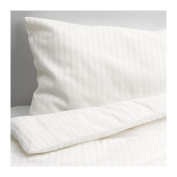 IKEA LEKLYSTEN Crib duvet cover/pillowcase, white