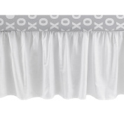 CoCaLo Collection White Cotton Sateen Gathered Dust Ruffle Crib Bed Skirt