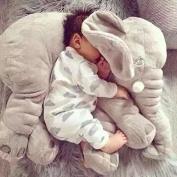 Prairie Diva 60cm Large Plush Elephant Toy Kids Sleeping Back Cushion Soft Elephant Doll