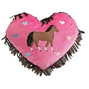 Carstens Hot Pink Heart Pillow