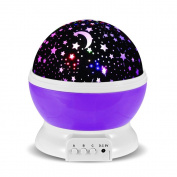 NFT Baby Room Night Light Moon Star Projector-LED Night Lighting Lamp With This Moon,Star,Sky Romantic,Romantic 3 Modes Colourful LED Rotating Starlight Projector Best Gift for Teens Kids