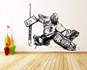 Wall Decal Sticker Bedroom Hockey Player Goalkeeper Sport Nursery Kids Boys Girl Room bo3384