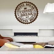 Wall Decal Vinyl Sticker Bedroom Nursery Coffee Break Stamp beans cup bo3311
