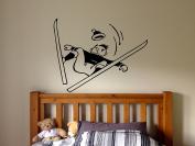 Wall Vinyl Sticker Bedroom Design skiing fail funny guy sport winter snow bo3304