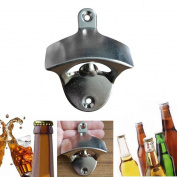 Wall Mounted Bottle Opener,Tuscom Wine Beer Soda Glass Cap Bottle Opener Kitchen Bars Gift