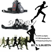 SUNDELY® Night Running Flashlight USB Charge Chest Lamp Torch For Outdoor Sports