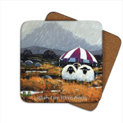 Wish Ewe Were Here Coaster by Thomas Joseph - Funny Sheep