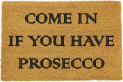 Come in if you have prosecco Doormat by Artsy