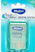 Wisdom Fresh Effect Extra Minty Dental 100 Sticks With Mint Fluoride