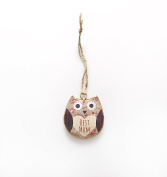 "Shabby Chic Owl ""Best Mum"" Hanging Decoration"