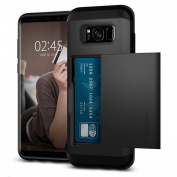 Spigen Galaxy S8 Slim Armor CS Case Black,Slim,Dual Layer,Wallet Design with Card Slot Holder,