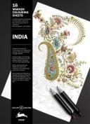 India: Marker Colouring Sheets