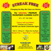 Microfiber Cloths Streak Free Cleaning 2 Individually Wrapped 2  .  s