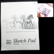 Sketchbook 23cm X 30cm 40 Sheets Premium Quality Sketch Book Drawing Paper Pad
