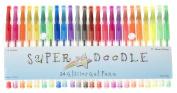Super Doodle - Glitter Gel Pens - 24 Glitter Colours - Premium Quality Gel Pen