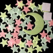 Multi Glow In The Dark Star Wall Sticker Kid Bedroom Nursery Room Decor