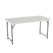 Lifetime 1.2m Adjustable Height Folding Utility Table 4428, New,  .