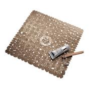 Interdesign Pebblz Shower Mat, Amber, New,  .