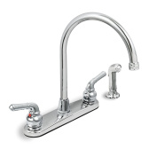 Everflow Kitchen Faucet With Spray High Arc Swivel Spout Two Easy To Operate ...